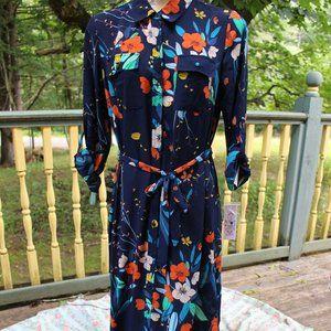 NWT Nanette Lepore Floral Shirt Dress Sz 10
